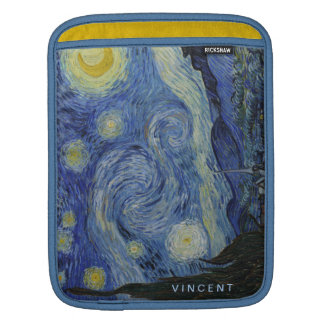 Starry Nacht Vincent van Gogh personalisiert iPad Sleeve