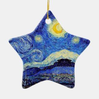 Starry Nachtinspirierte Van- Goghverzierung Keramik Ornament