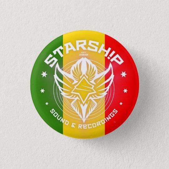 STARSHIP Ton u. Aufnahme-Knopf (Rastafarian) Runder Button 3,2 Cm
