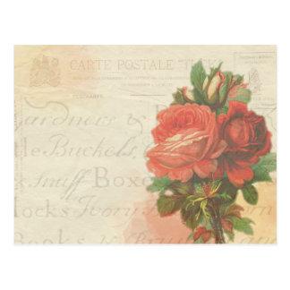 Stationäre Postkarte der Vintagen Rose