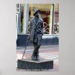 Statue de James Joyce, Dublin Irlande Poster