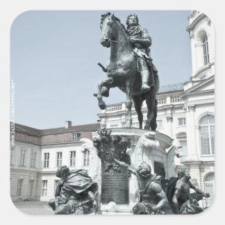 Statue Friedrich Wilhelm I in Berlin Quadratischer Aufkleber