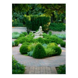 Statue in den botanischen Gärten Postkarte