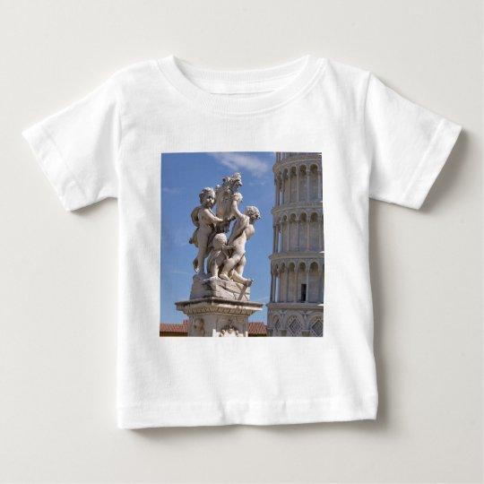 Statue und lehnender Turm von Pisa Baby T-shirt