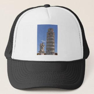 Statue und lehnender Turm von Pisa Truckerkappe