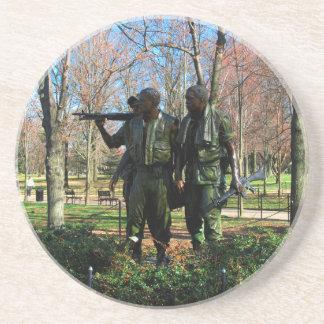 Statuen am Washington DC Sandstein Untersetzer