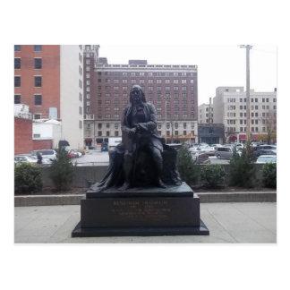 Statuepostkarte Bens Franklin Postkarte