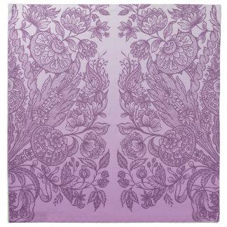Staubige rosa Verzierung Serviette