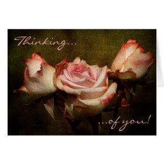 Staubige Rose, die an Sie Gruß-Karte denkt Grußkarte
