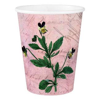 Staubiger rosa Vintager Viola Pappbecher