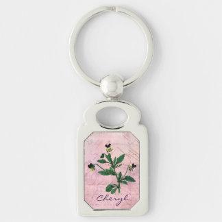 Staubiger rosa Vintager Viola Schlüsselanhänger