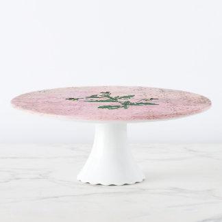 Staubiger rosa Vintager Viola Tortenplatte