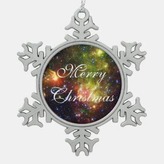 Staubiger Tod der enormen Stern NASAs Schneeflocken Zinn-Ornament