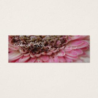 Staubiges Rosa Mini Visitenkarte