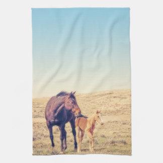 Staubiges Rosen-Küchen-Tuch-Western-Pferd Geschirrtuch