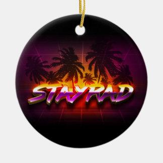 StayRad 80er Rundes Keramik Ornament