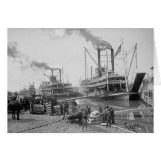 Steamboats bei Vicksburg, 1910 Karte