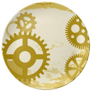 "Steampunk 10,75"" dekorative Porzellan-Platte Teller"