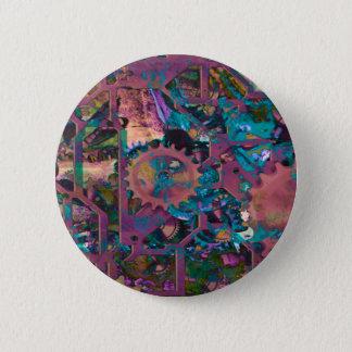 Steampunk, abstrakt runder button 5,7 cm