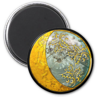 Steampunk - aimant rond