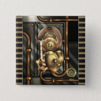 Steampunk am Herzen Quadratischer Button 5,1 Cm
