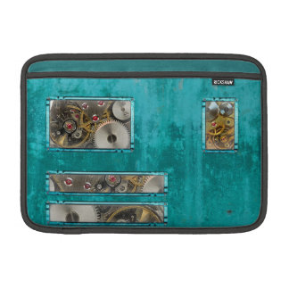 Steampunk aquamarin MacBook sleeve