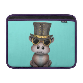 Steampunk Baby-Flusspferd MacBook Sleeve