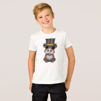 Steampunk Baby-Flusspferd T-Shirt