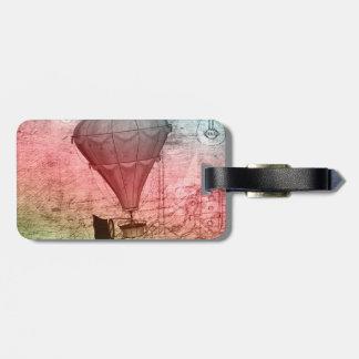 Steampunk Ballon-Skizze-Gepäckanhänger Gepäckanhänger