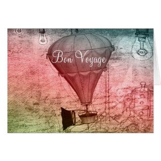 Steampunk Ballon-Skizze-Reise-Karte Karte