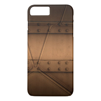 Steampunk Brown Metall mit Niete iPhone Fall iPhone 8 Plus/7 Plus Hülle