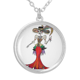 Steampunk Catrina, Halskette Dia de Los Muertos