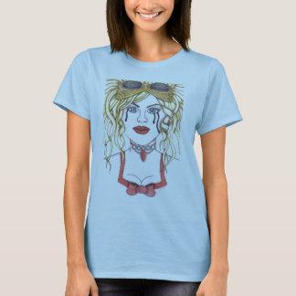 Steampunk Dame, gotischer Entwurf T-Shirt