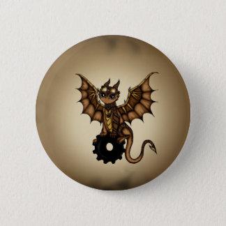 Steampunk Drache Runder Button 5,7 Cm