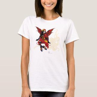Steampunk Fee alle im Rot T-Shirt