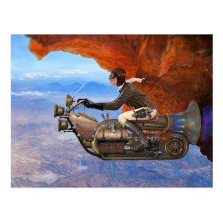 Steampunk Flugmaschine Postkarte