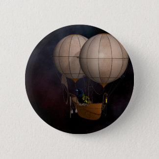 Steampunk Heißluft Baloon Runder Button 5,1 Cm