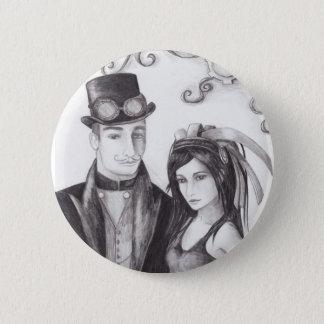 Steampunk Hochzeit - Knopf Runder Button 5,7 Cm
