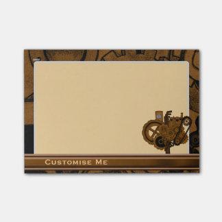 Steampunk Maschinerie (Kupfer) Post-it Haftnotiz