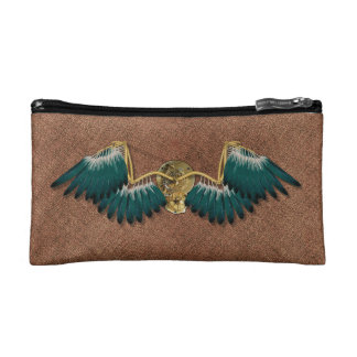 Steampunk mechanische Flügel Brown Makeup-Tasche