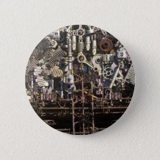 Steampunk mechanische Maschineriemaschinen Runder Button 5,1 Cm