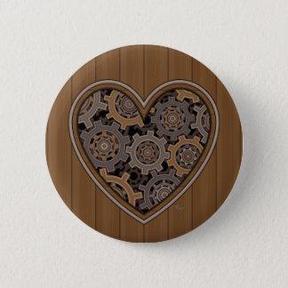 Steampunk mechanisches Herz Runder Button 5,7 Cm