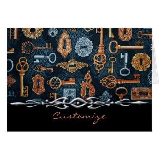 Steampunk Schlüssel-und Mitteilungskarte