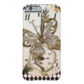 Steampunk Schmetterling rund Barely There iPhone 6 Hülle