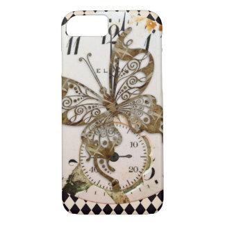 Steampunk Schmetterling rund iPhone 8/7 Hülle