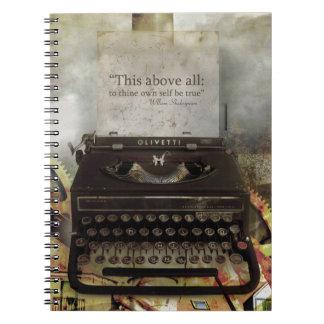 Steampunk Shakespeare Zitat-Ausgabe-Notizbuch Notizblock