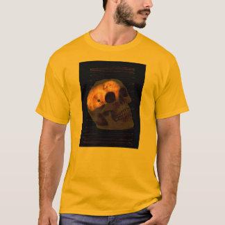 Steampunk skeleton Schädelmaschinerie-Zahnrost T-Shirt