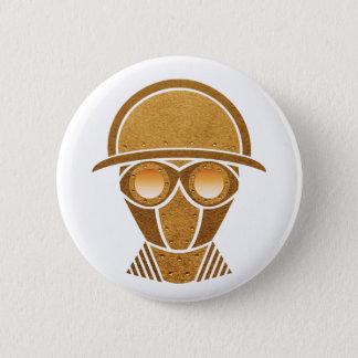 Steampunk Sturzhelm u. Maske Runder Button 5,1 Cm