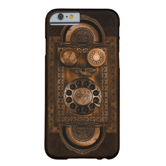 Steampunk Telefon-Skala, Vintage Art, Brown Barely There iPhone 6 Hülle