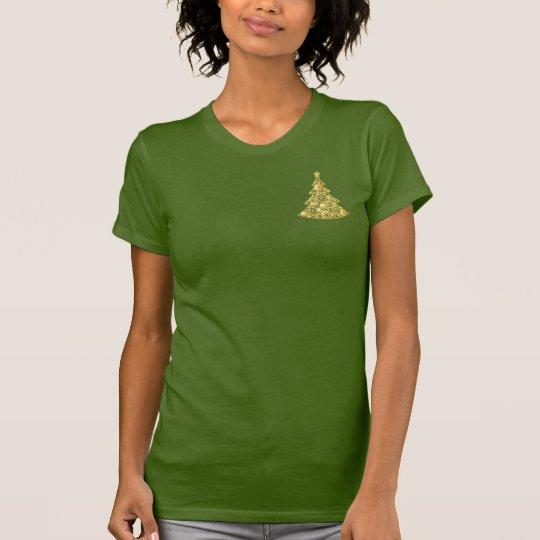 Steampunk übersetzt Goldweihnachtsbaum T-Shirt